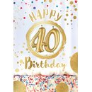 Great Cards Zahl 40 - Happy Birthday mit Kerzen ausblasen...
